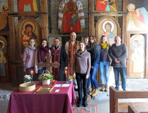 Zu Besuch in der ukrainischen Kirche in Tallin.