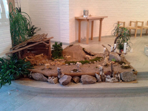 Die Krippe in der Klosterkirche in Vadstena.