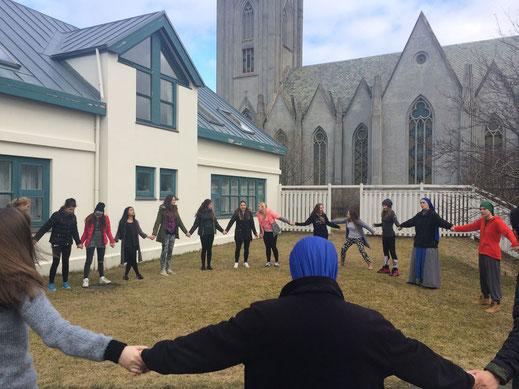 Jugendtreffen in Reykjavik.