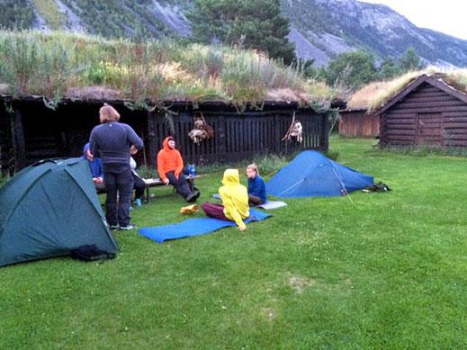 Rast im Jørundgård Middelaldersenter.
