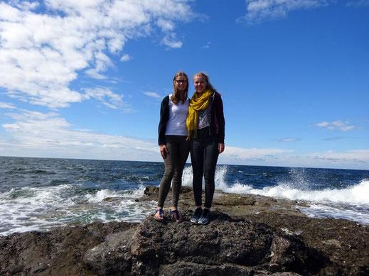 Mit Britta Förstermann auf Gotland.