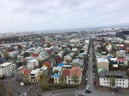 Reykjavik von oben.