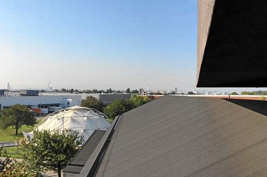 Dach-/ Dachrinnenreinigung für Firmen (hier Vitra Campus)