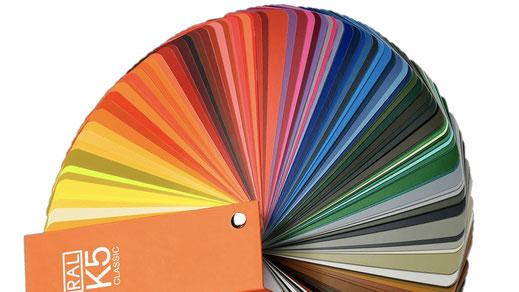 Pulverlackierung in allen Farben nach dem RAL-Fächer