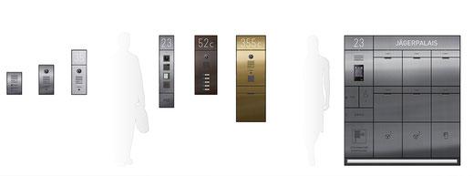 Entry ermöglicht Klingeltableaus, Außenstationen oder Gestaltungsbänder am Eingang