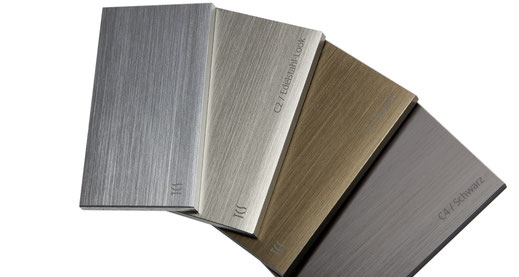 Ein Design- und Montagesystem in Edelstahl, Aluminium, Messing, Baubronze