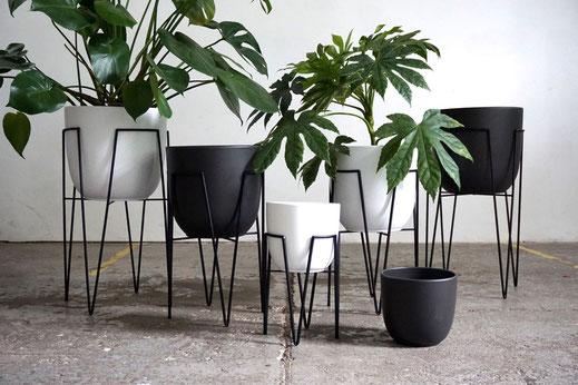 Hairpin Leg, Hairpin Leg Planter, Blumentopf, Blumentöpfe, Planter, Metall, Keramik, Ceramic, Metall