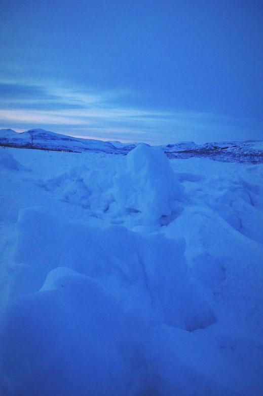 bigousteppes norvège arctique bleu nuit glace