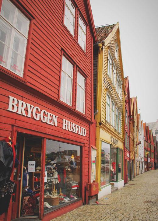 NORVEGE BERGEN SHOPS BOIS PORT