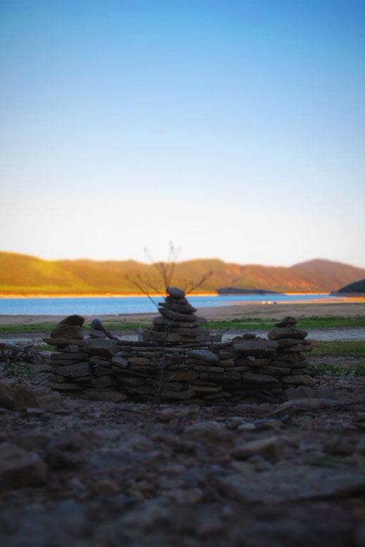 bigousteppes espagne mediano lac pierres