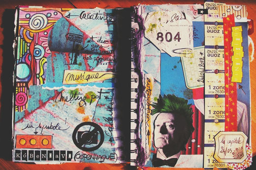 bigousteppes art journal carnet