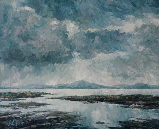 See, Irland, Öl, Ölbild, Berge, Malerei, Ölmalerei, Ölbild