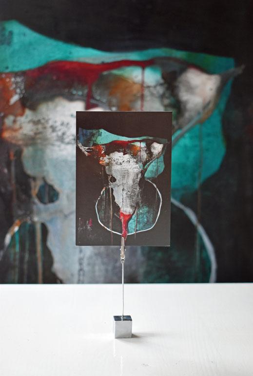 Rinderschädel, Bull Skull, art, Hamburger Künstler, Suzan Leisering, Postkarten-Set, Wacken, Boho, Kartensammler, longhorn, art shop, Gastgebergeschenk, hostess gift, art card, Schädel, Skull Art