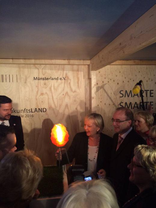 3D gedruckte Lampe von URBANMAKER für Hannelore Kraft
