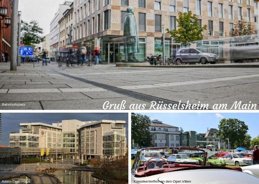 "Postkarte ""Gruß aus Rüsselsheim am Main"" - 0,80 Euro"