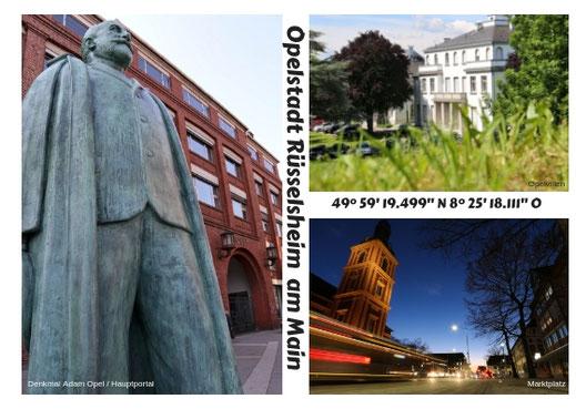 "Postkarte ""Opelstadt"" - 0,80 Euro"