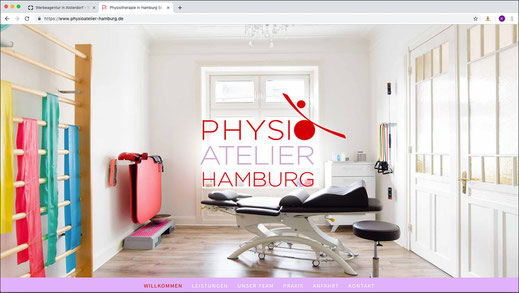 Web Design aus Alsterdorf: Die Website des Physioateliers Hamburg · WINTERPOL