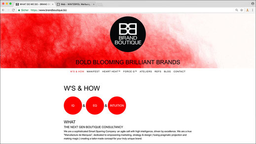 "Web Design aus Alsterdorf: Anne Luneau's Website ""Brand Boutique"" · WINTERPOL"