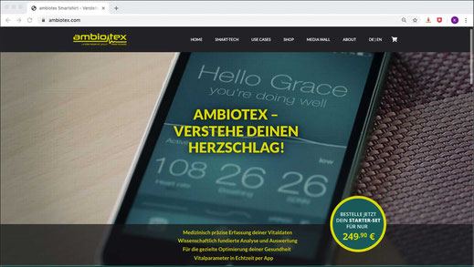 Web Design aus Alsterdorf: Die Website von ambiotex · WINTERPOL