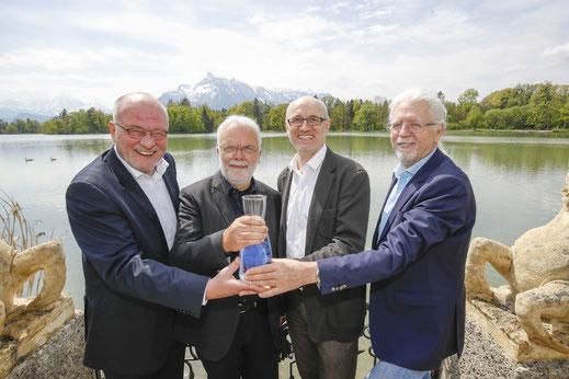 Claus Salzmann, Prof. Karl Svardal, Prof. Thomas Ertl und Andreas Unterweger | Foto: Markus Tschepp