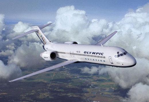 Boeing 717 der Olympic Aviation/Courtesy: Boeing