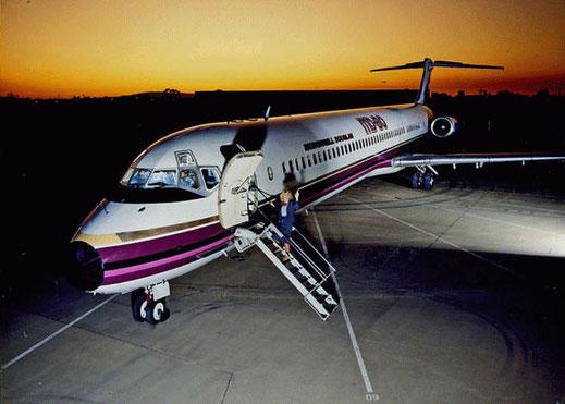 Werbefoto mit einer MD-80/Courtesy: McDonnell Douglas