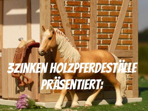 Maßstab der Pferdeställe und Schleich Pferde