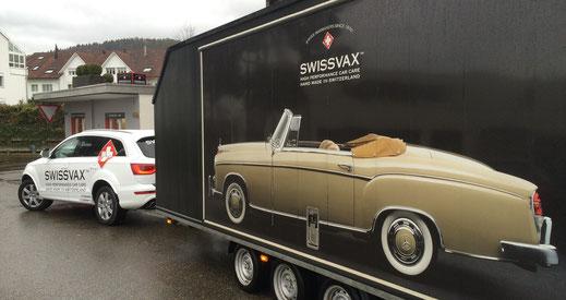 Car detailing Swissvax Anhänger