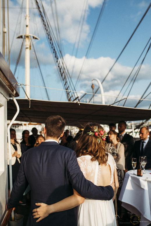 Hochzeit auf der Rickmer Rickmers // Hochzeitsfotografin: Anne Hufnagl