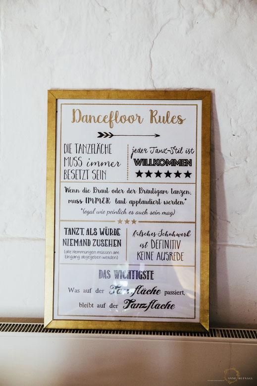 Dancefloor Rules Hochzeit