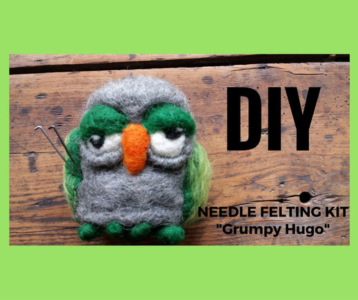 "Needelfelting supply pack ""grumpy Hugo"", Wollset"