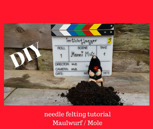 "Needelfelting supply pack ""manni mole"", Wollset"