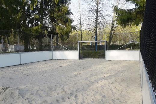 Innenansicht unserer neuen Beach Soccer Anlage