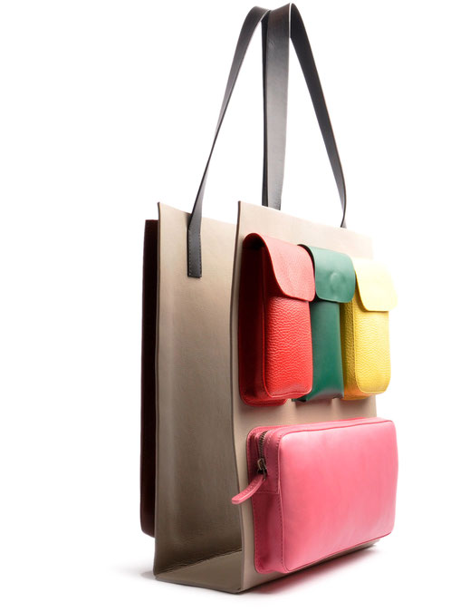 OSTWALD Bags . Finest Couture . Handcrafted Leatherbag .  Shopper . Carry On . multicolour. Leather bag taupe . red . green . yellow . pink . brown. black
