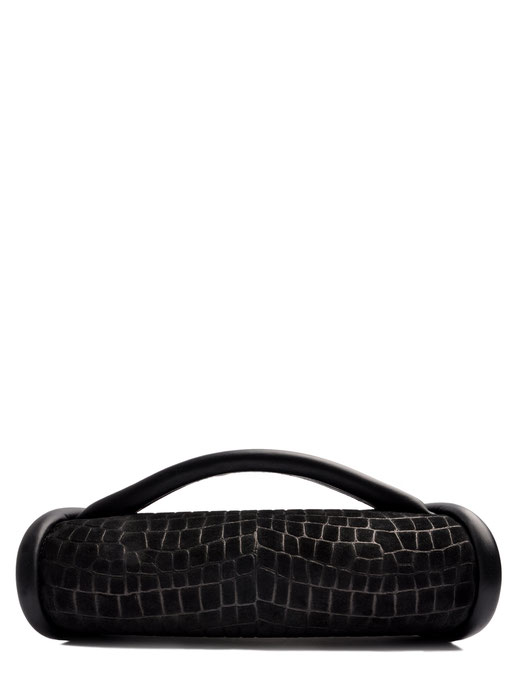 OSTWALD Bags . Finest Couture . Handcrafted Leatherbag . Clutch . Calzone Clutch . black . Slow fashion