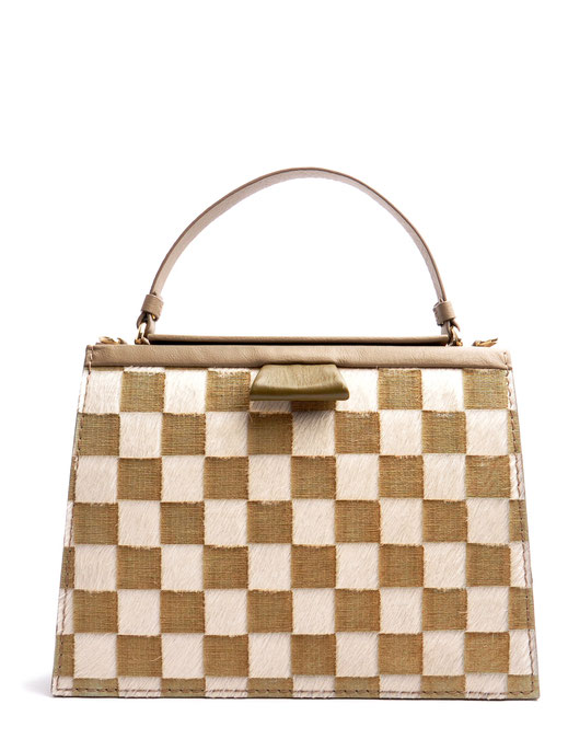 OSTWALD Bags . Finest Couture . Handcrafted Leatherbag . TURTLE Tote . colour taupe . oliv . white