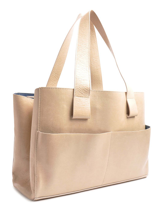 OSTWALD Bags . Shopper . beige  leather. Shop online . everyday bag .  Webshop