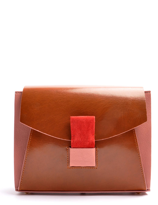 OSTWALD Bags . Finest Couture . Handcrafted Leatherbag . Shoulder bag . Glide Loop brown . rose . red