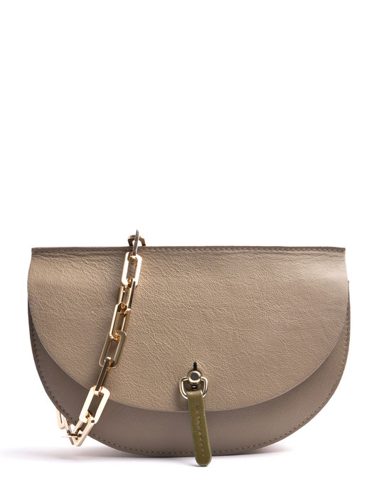 OSTWALD Bags . Finest Couture . Handcrafted Leatherbag . Saddle . Body Bag . colour taupe . oliv . white