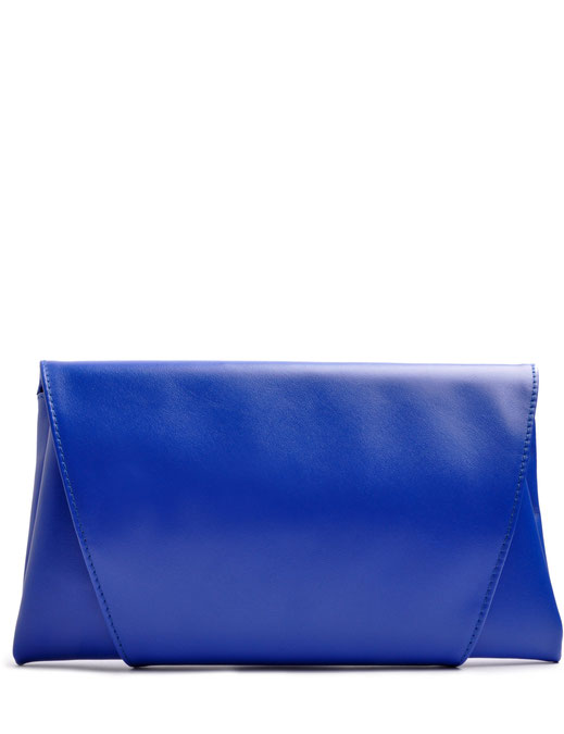 OSTWALD Finest Couture Bags. Clutch in royal blue. Handcrafted Bags