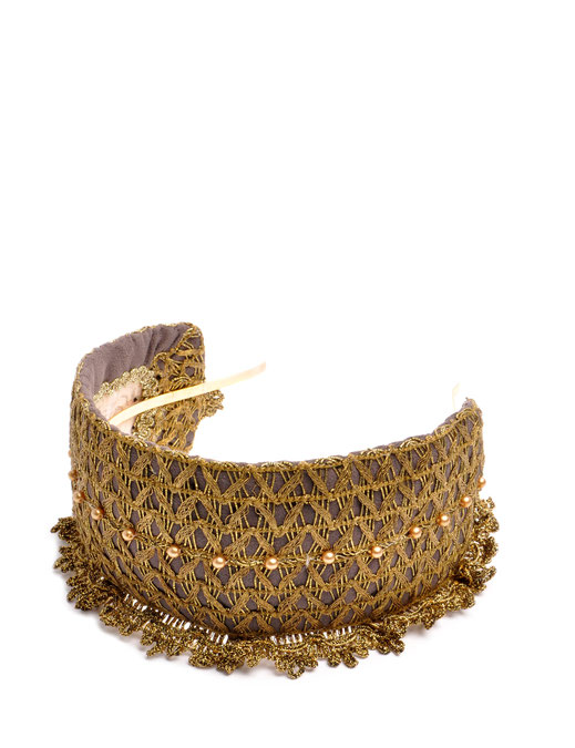 Headband Niely Hoetsch grey & gold