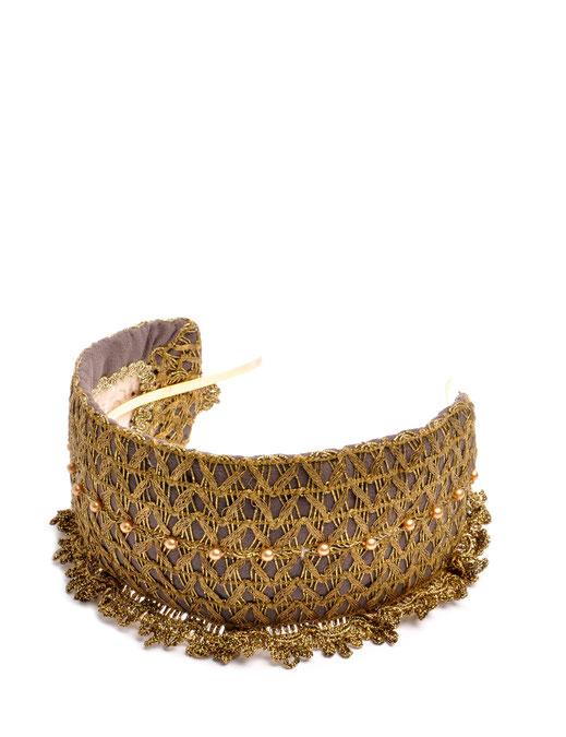 Headband Niely Hoetsch grey & gold