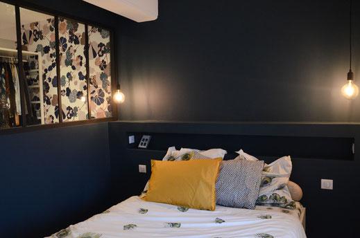 Décoration intérieur - maison lyon - rénovation totale d'une maison- design décoration luminaires verrière