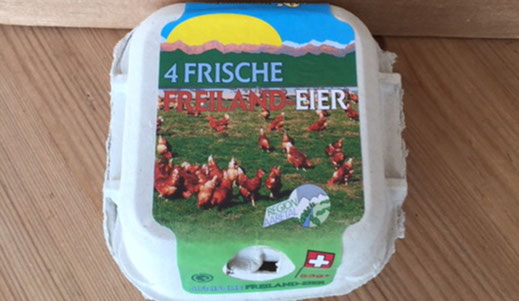 Freilandeier-4er-Schachteln ab Hof