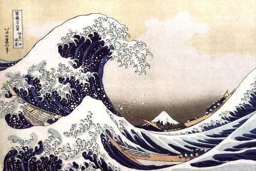 "Katsushika Hokusai. ""Die große Welle vor Kanagawa"", 1830"