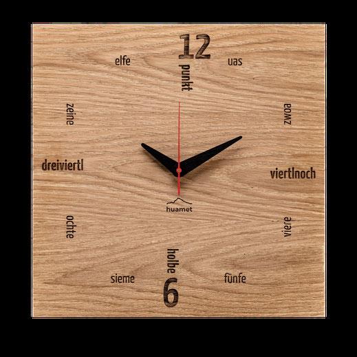 Tafinity Wanduhr Holz Eiche modern