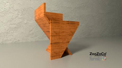 angled stool