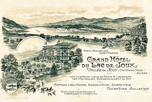 Carte-réclame de lancement : ouverture juillet 1901