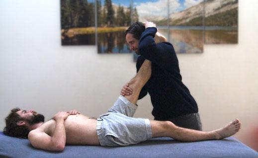 PIR - Postisometrische Relaxation der Hamstrings;Physiotherapie
