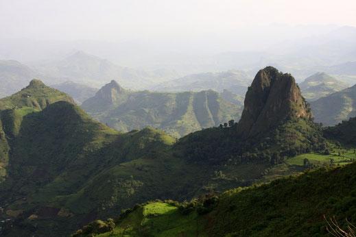 Die bergige Region rund um Gondar.